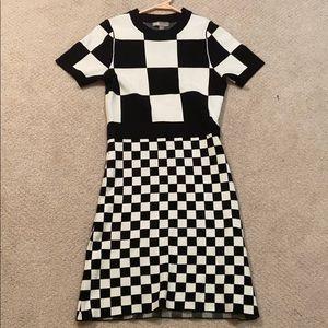 ASOS Checkered Wool Knit Dress